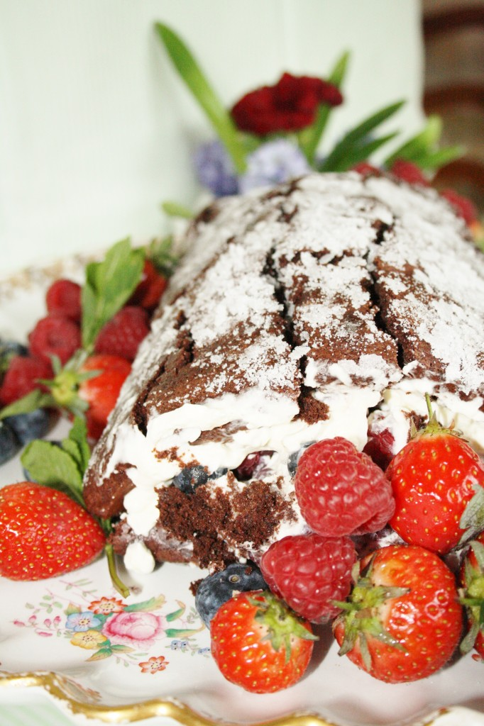 Sylvia's Kitchen Summer Berry Roulade