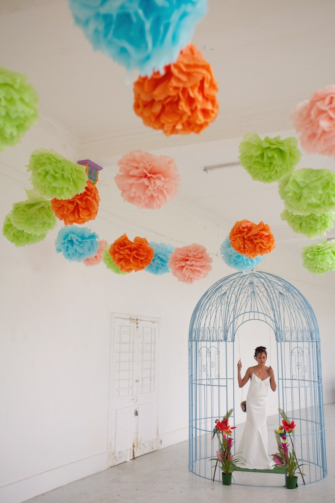 tropicana neon tropical bird wedding inspiration by Rebecca Douglas photography 0002